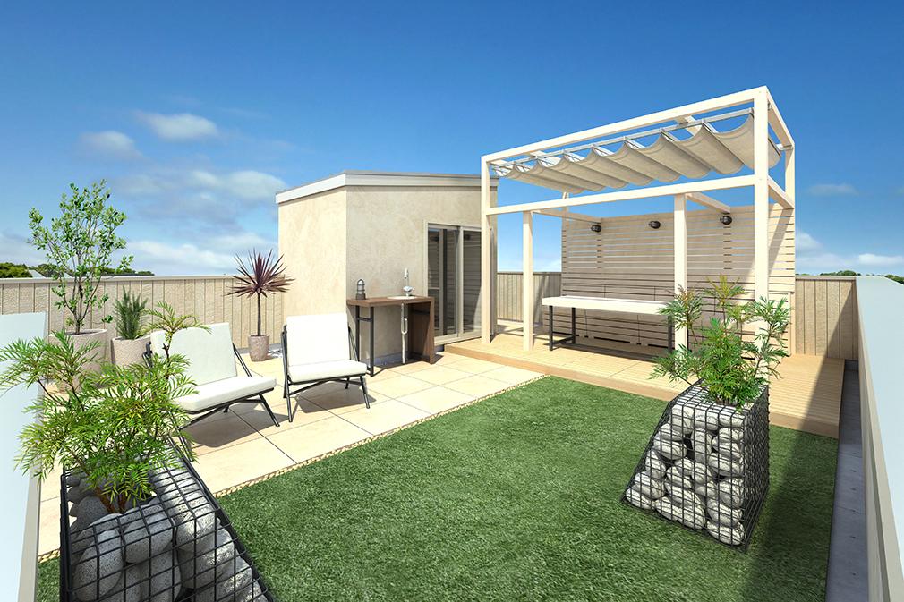 屋上庭園付住宅プラスワンリビング