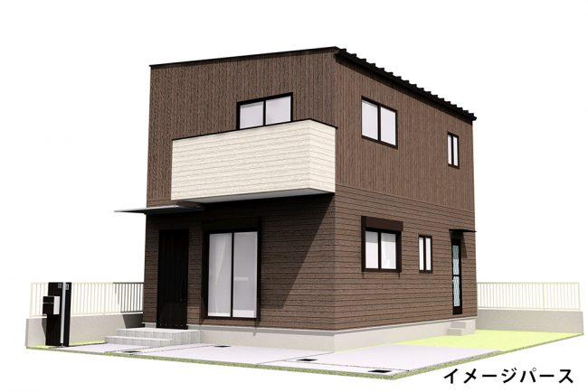 川辺建売住宅外観完成イメージ