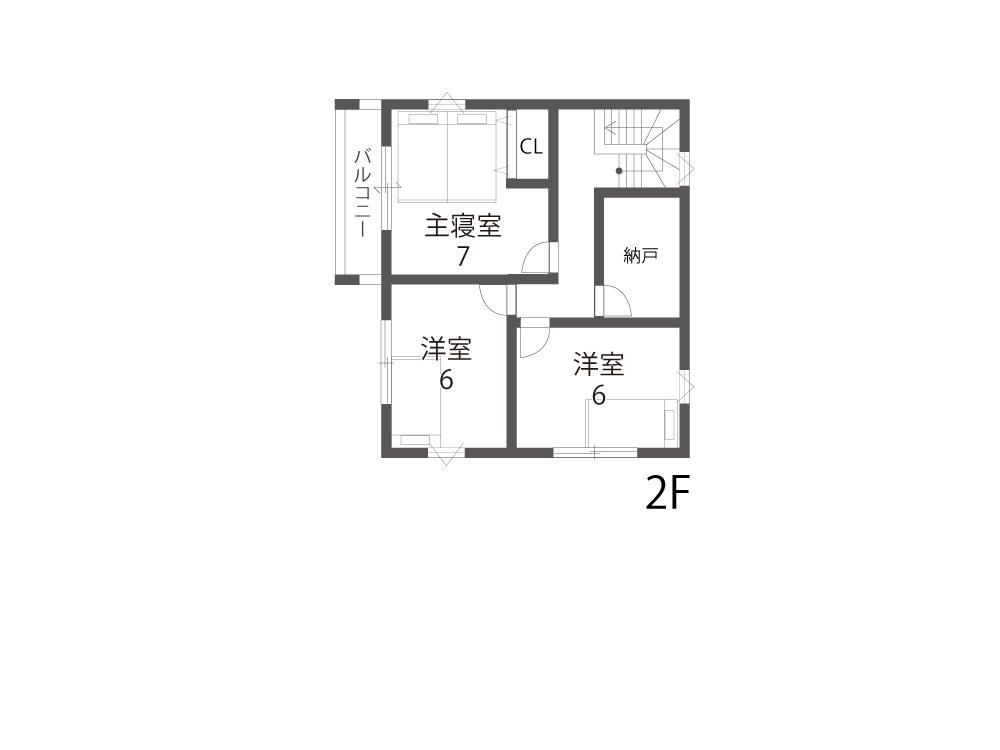 大津市土地「グリーンパーク下阪本」10号地参考プラン2F間取り図