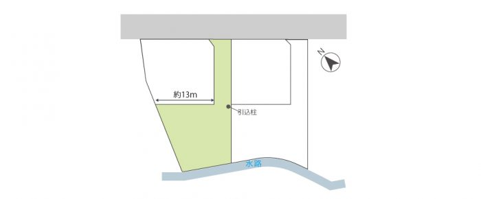 冨波乙(1区画)区画図