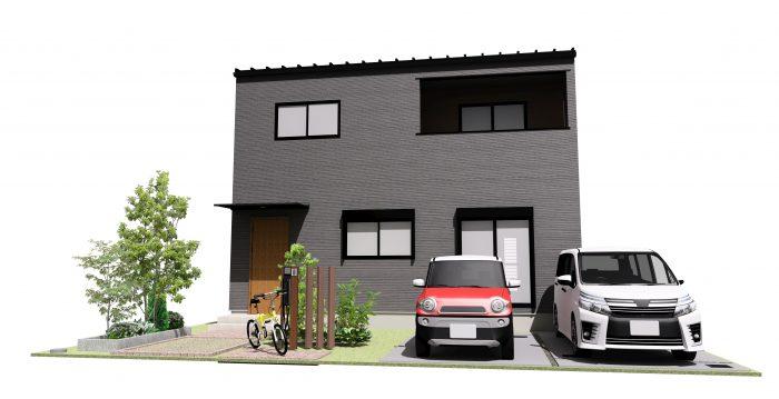 下阪本03モデルハウス完成予想パース