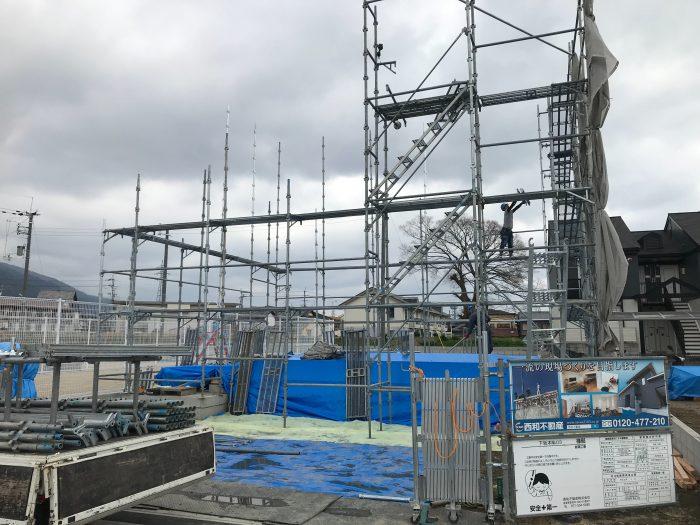 下阪本03モデルハウス上棟工事