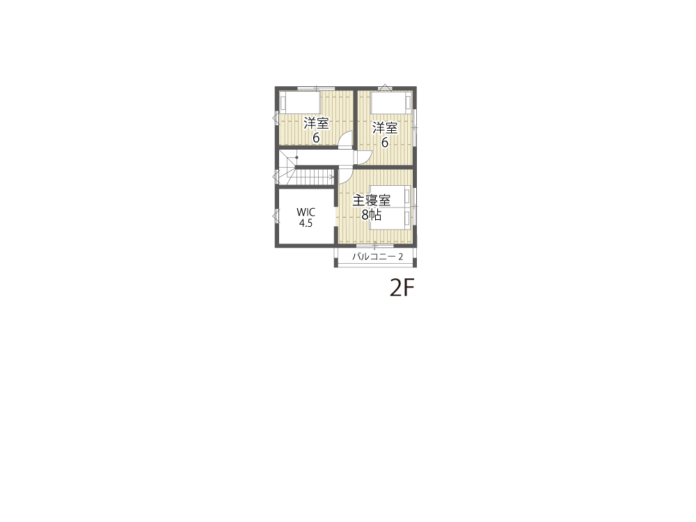 栗東市参考プラン「グリーンパーク川辺5期」15号地間取り図2F