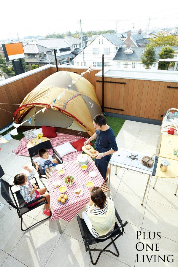 屋上庭園のある家_グランピングイメージ