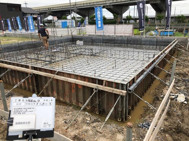 下阪本18モデルハウス基礎工事