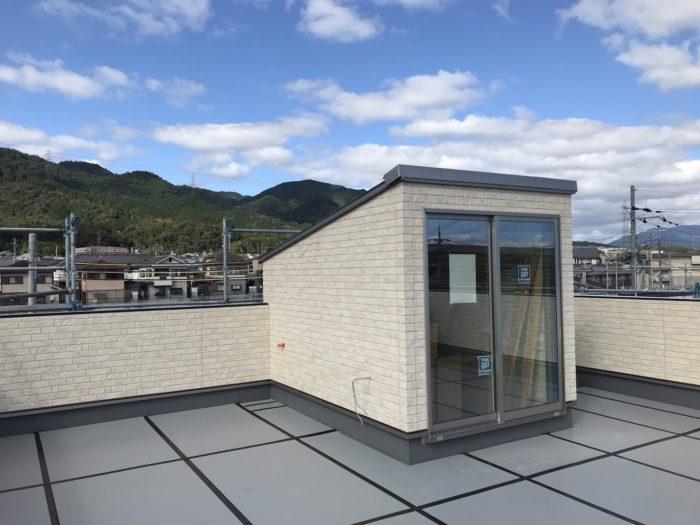 下阪本18モデルハウス屋上庭園