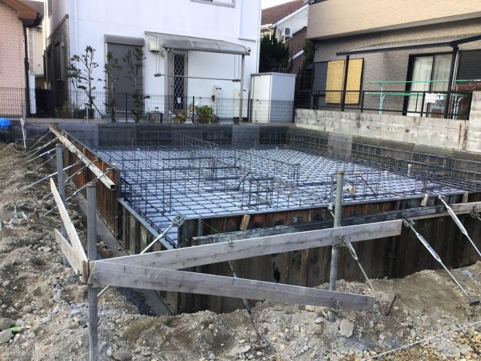 播磨田36モデルハウス基礎工事