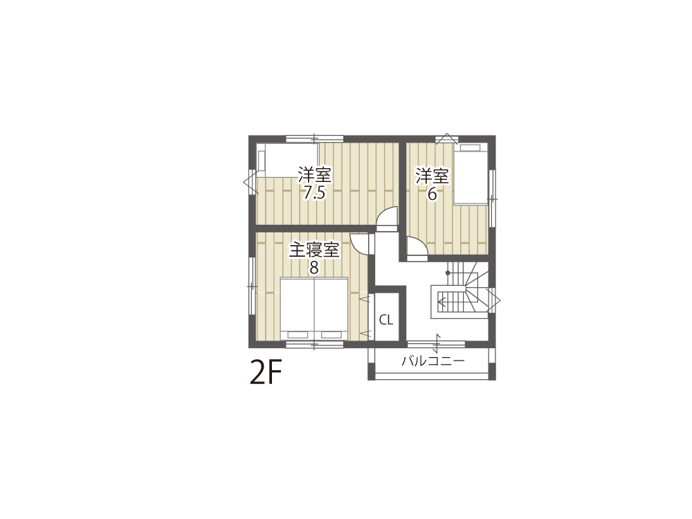 栗東市参考プラン「グリーンパーク川辺6期」21号地間取り図2F