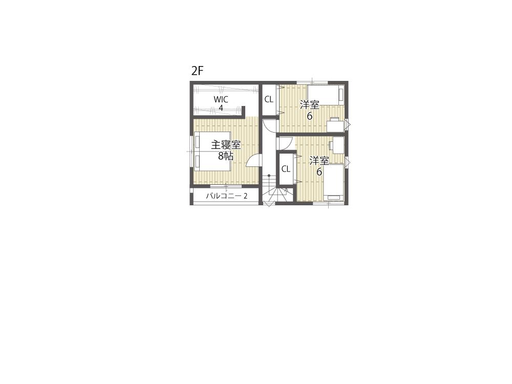 守山市建売住宅「グリーンパーク播磨田」36号地間取り図2F