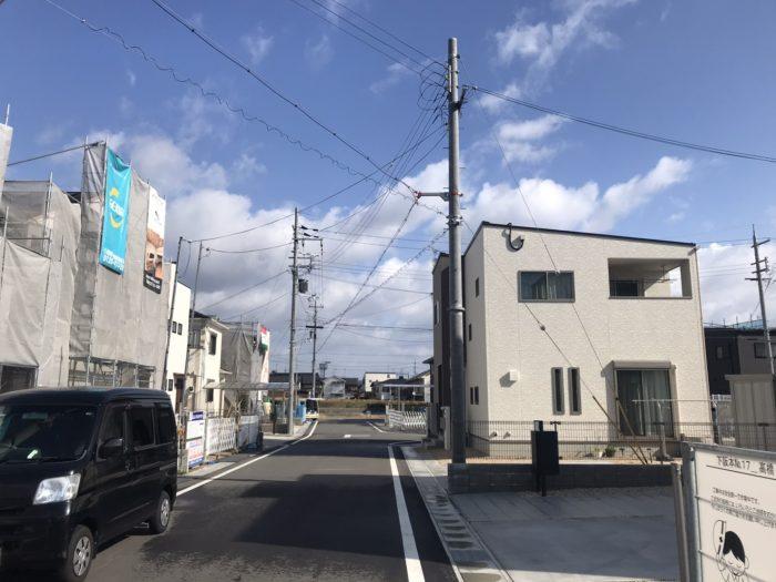 下阪本2丁目分譲地街並写真
