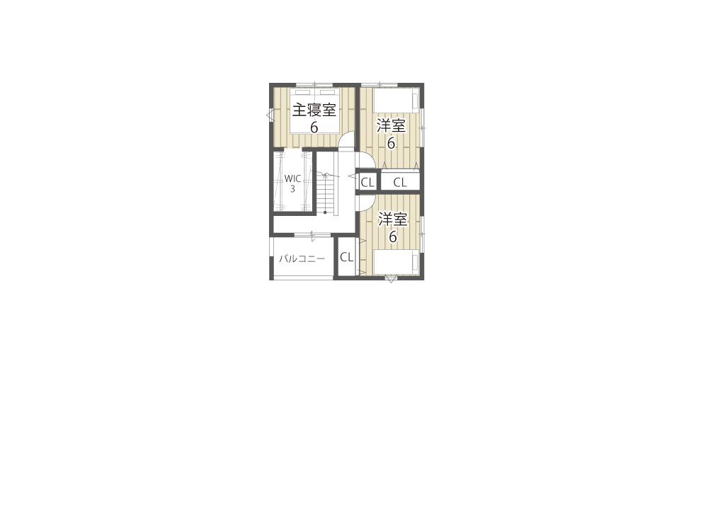 栗東市建売住宅「グリーンパーク川辺5期」17号地間取り図2F