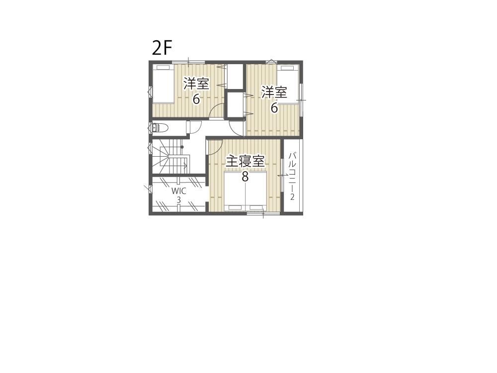 大津市建売住宅「のぞみが丘関津」17号地間取り図2F
