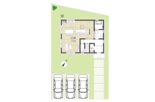 栗東市新築一戸建て「きららの杜」37号地間取り図1F