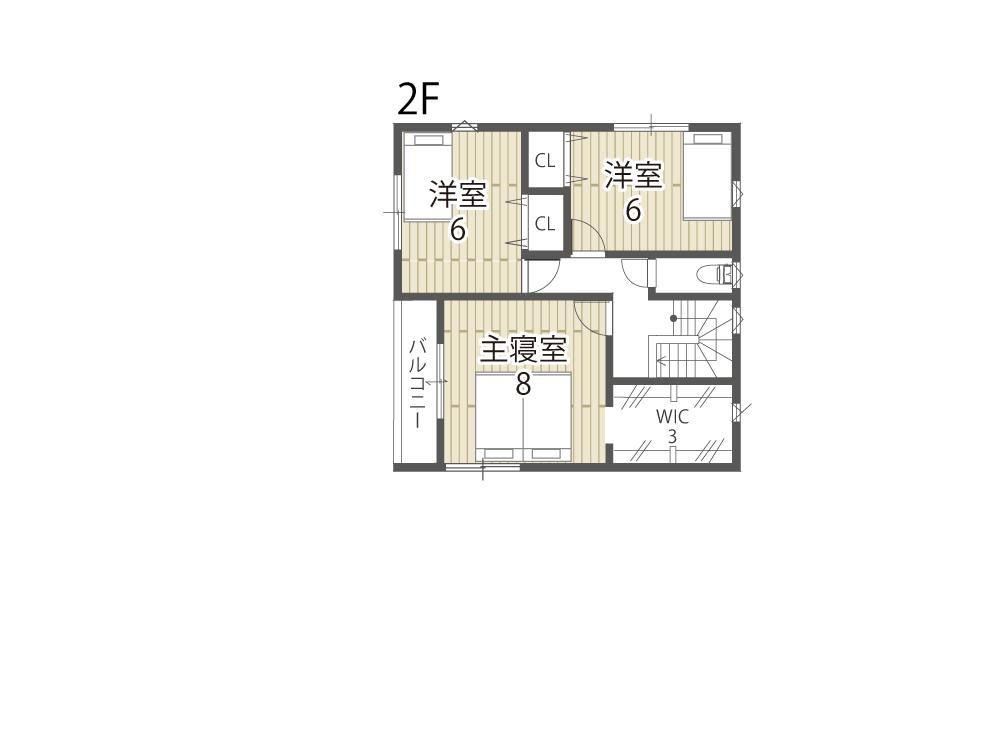 大津市新築一戸建て「のぞみが丘関津」36号地間取り図2F