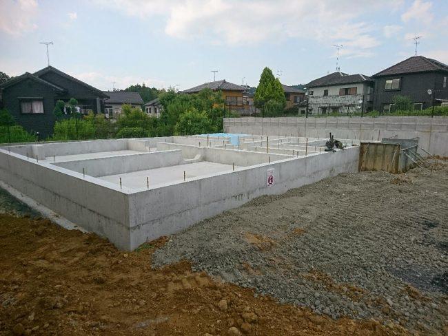 栗東市下戸山37モデルハウス基礎工事