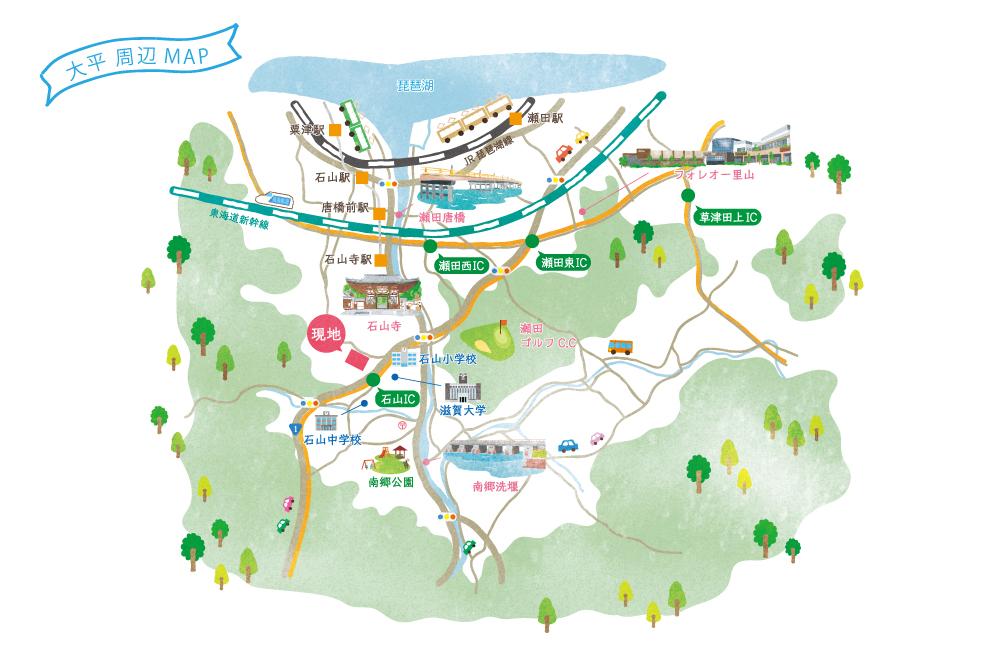 大津市分譲地「グリーンパーク大平」イメージマップ
