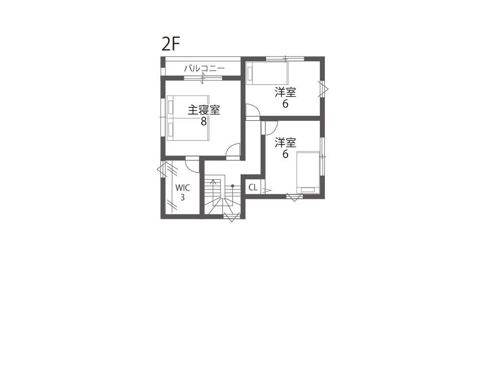 守山市建売住宅「グリーンパーク播磨田」35号地間取り図2F