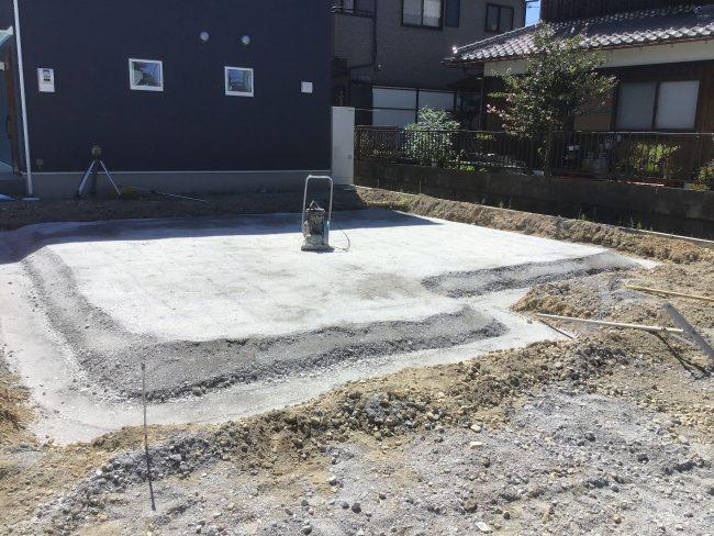 守山市播磨田町35モデルハウス基礎工事