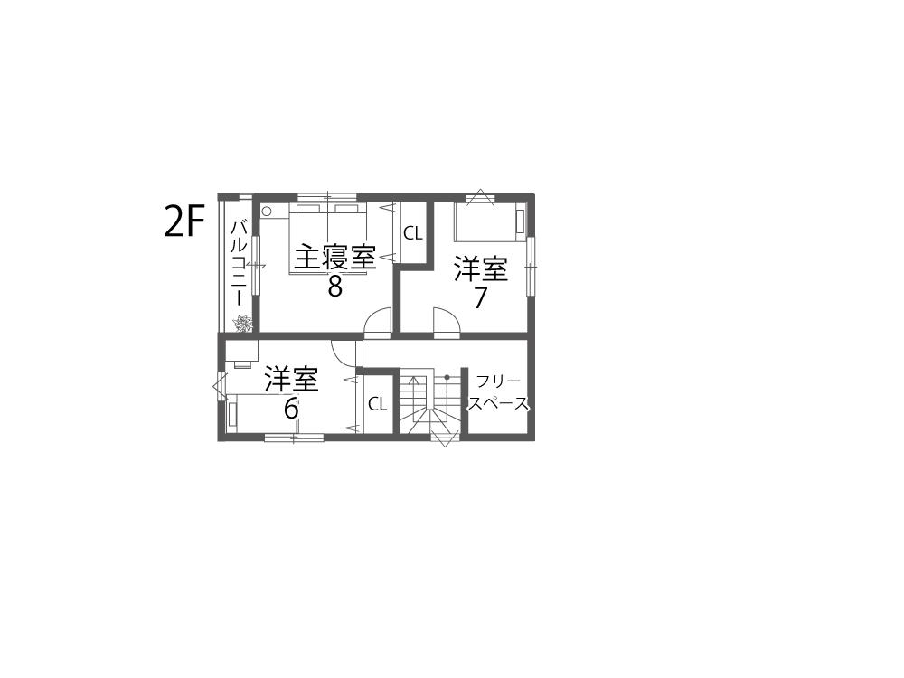 野洲市土地「グリーンパーク西河原2期」17参考プラン1F間取り図