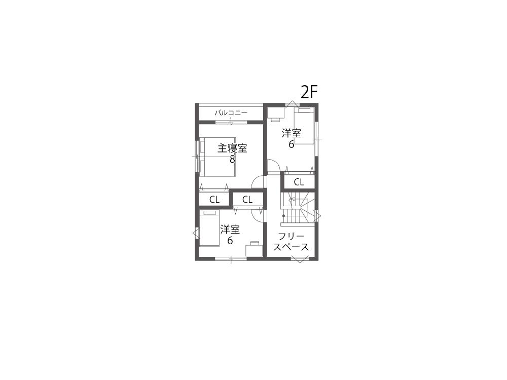 大津市新築一戸建て「グリーンパーク下阪本」20号地間取り図2F