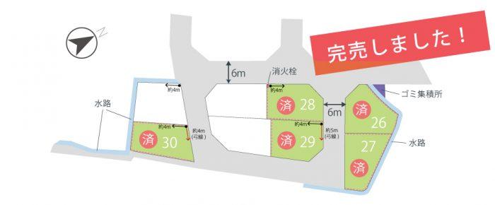 栗東市土地「グリーンパーク川辺7期」区画図