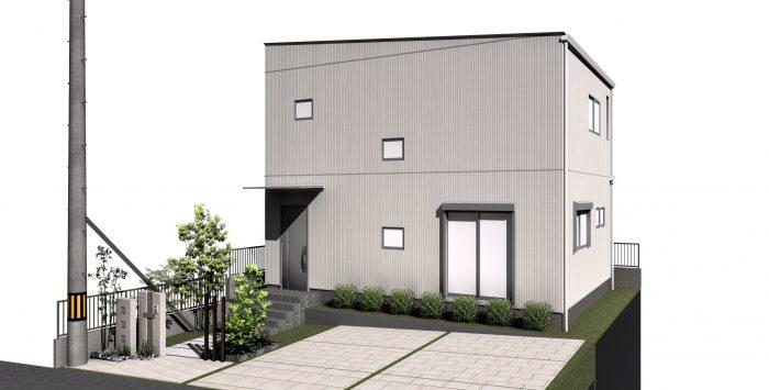 大平61モデルハウス完成予想パース