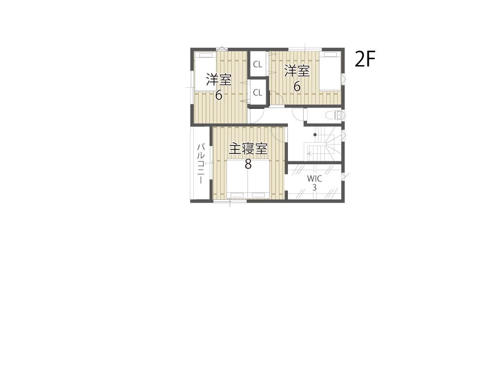 大津市新築一戸建て「のぞみが丘関津」30号地間取り図2F