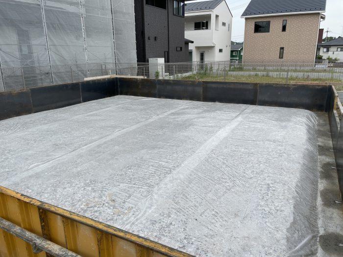 関津のぞみが丘30モデルハウス基礎